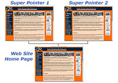 Super Pointer Web Page Layout